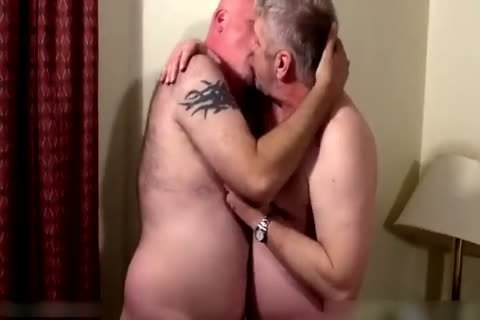 Two horny daddies in bedroom