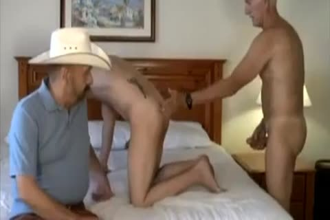 old Cowboy And friend plow young lad