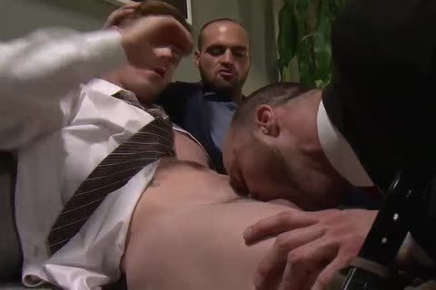 OFFICE stud receives double penetration