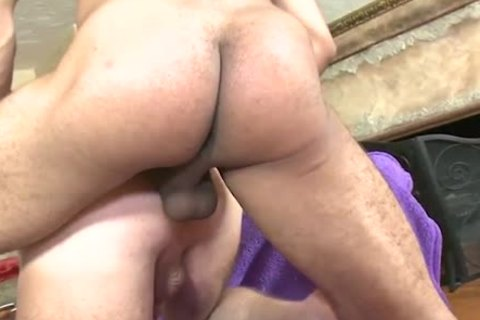 shaved White man snatch gets plowed
