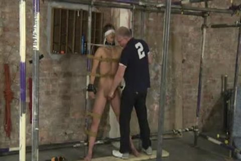 Restrained in nature's garb For Caning dildo And Cumming