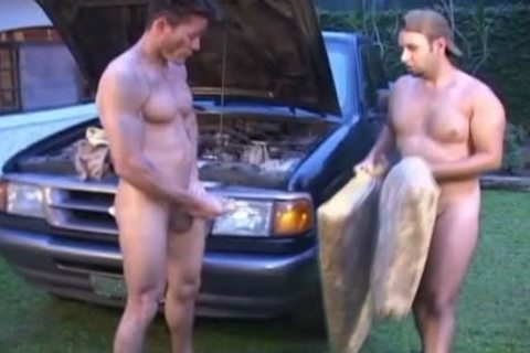 Oiled And indecent homosexual guys nail Outside