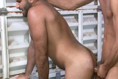 Excited gay Gives oral At Work