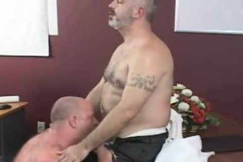 homosexual Bear couple hardcore In Office
