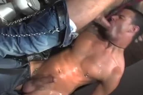 Three homosexual Pornstars All pounding jointly