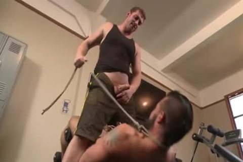Muscled Gym Rat bound And Fisted