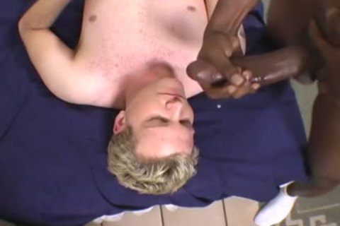 blond dude Does Terrible oral stimulation On A BBC
