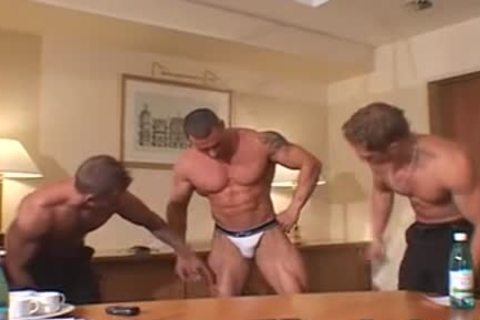 3 greater amount horny Muscle Posers