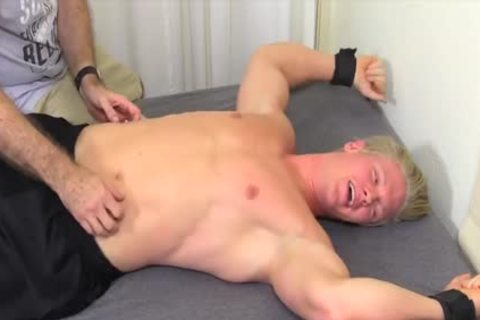 lusty And blonde chap Named Seamus gets Tickled Hard