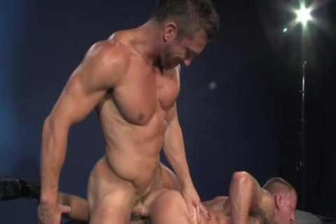 Muscle homo butt stab And Facial
