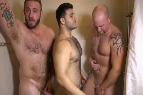 Muscle homosexual threesome And ball cream flow