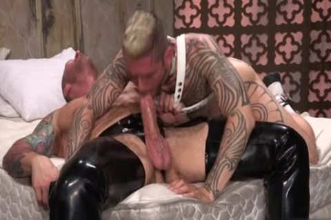 Tattoo'd Muscle Beefcakes With Bum Love Behind fucking Fetish lick shlong And Take A ejaculation