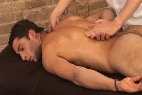 pretty Hunky Adrian Getting yummy Sensual Massage On His Searing Body And Hard Tool