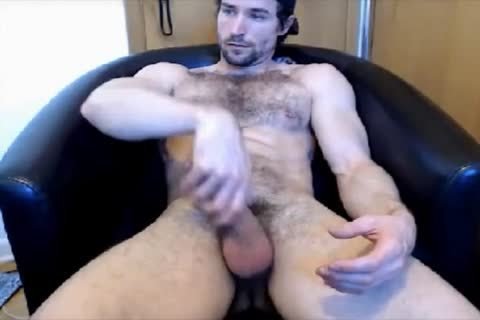 gracious hairy lad cook jerking On cam