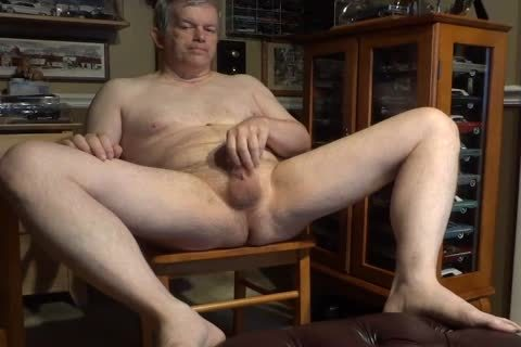 naked 60 Year older Daddy Masturbating