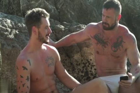 Muscle homosexual Outdoor And sex cream flow