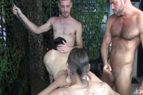 fine unprotected Foursome gang group-sex