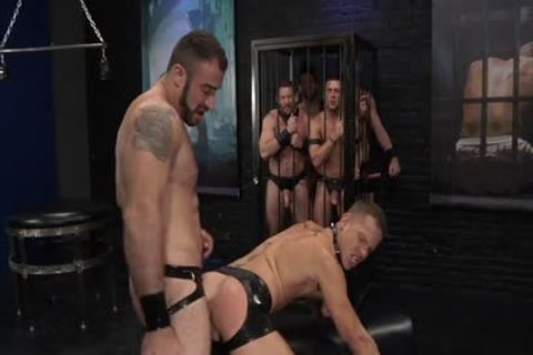 1-4 7 Leather group gangbang