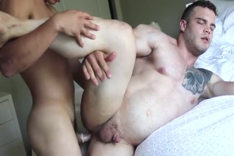 Two Hunks plow Each Other