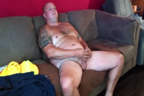 naughty Tattooed chubby Construction Worker Solo