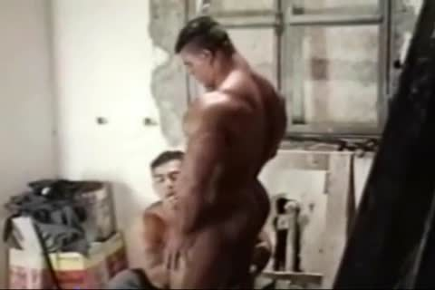 Brasil Bodybuilders large butthole poked By Hunk