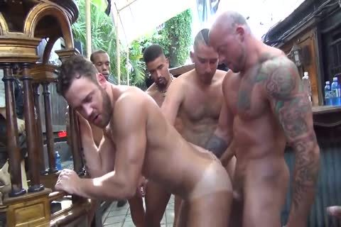 MusclePup Logan Moore receives bunch gangbanged & Barebacked bang