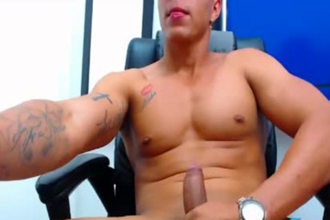 Flirt4Free - Felipe Borja - Latino's Monster 10-Pounder discharges A throbbing Load