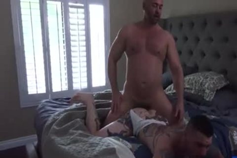 Tattoo homosexual butt stab With Creampie