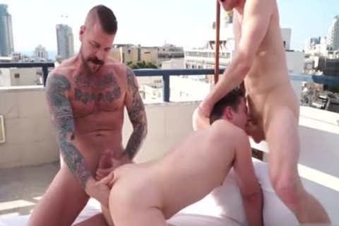 massive dick gay three-some And Facial
