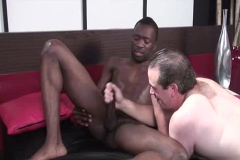 darksome homosexual Lad Acquires Jerked Off