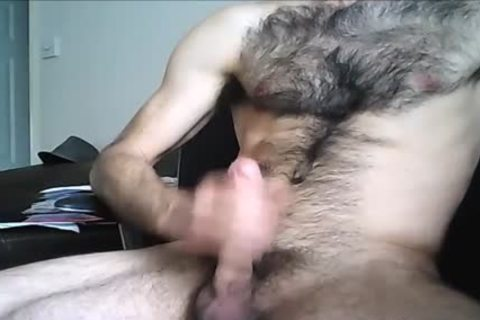 hairy Hung fellow discharges A large Load