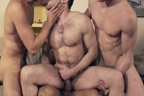 pretty gay double penetration And Facial
