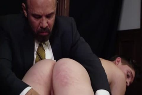 MormonBoyz - Priest Daddy Spanks rod ass Bent Over Knee