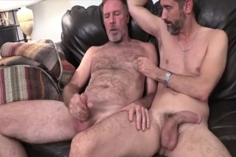 Two Dads plowing On The bed plowed