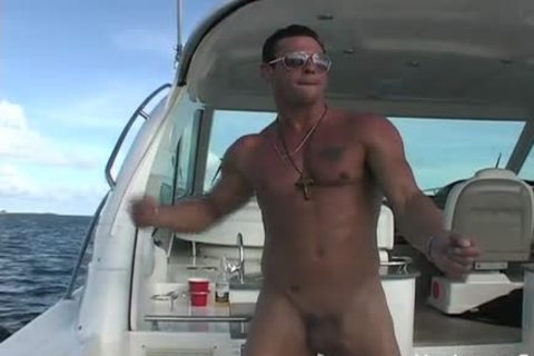Javier undressed On A Boat