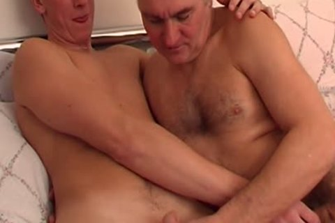 filthy Daddy Sucks Stepsons cock