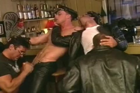 ramrod Hungry Biker guys engulf One one more Off At The Bar