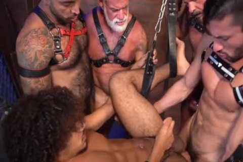 Dereks Leather Daddy gang gangbang Part 2