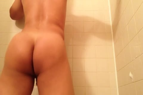 19 Y/o Taking A horny Shower (perfect butt)