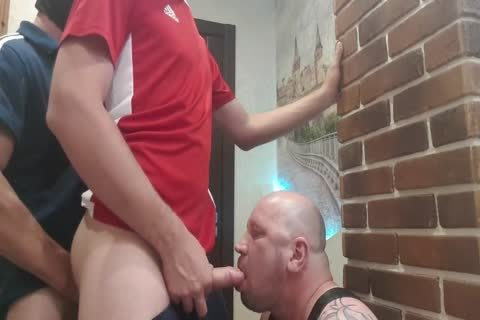 two slavemaster From The Doorway Hard poke face hole And raw