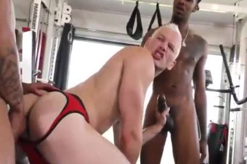1 marvelous Blond Vs two Hungry darksome males
