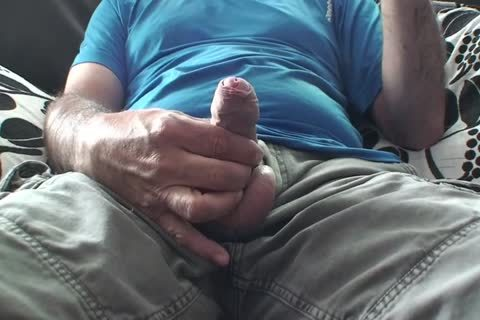 daddy S Playing With His large hairy Uncut Foreskin weenie