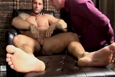 Mike gets His Feet Worshipped