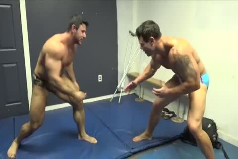 Muscle men Zach Joey Wrestle LathanArch 480p 030414 2