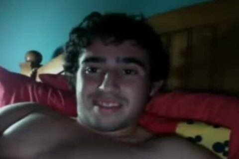 wild young chap shoots A large cum Load After Masturbation