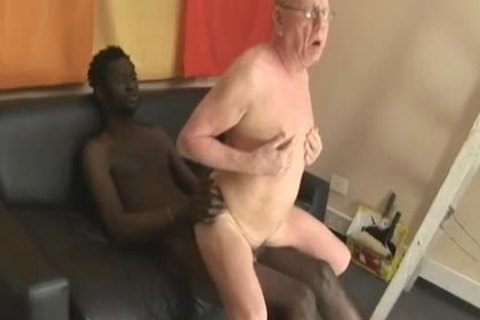 grand-dad engulfing & Getting poked By enormous black dick