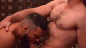 Gods Of Men: Athletic & brown hair Noel Santoro threesome