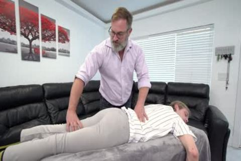 athletic twink Massaged And fucked By Stepdad