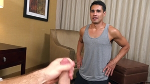 Str8chaser.com: Short haired Brandon Garza receives nailing