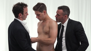 Missionary Boys: Greg Mckeon with thick Elder Ence hard 3some